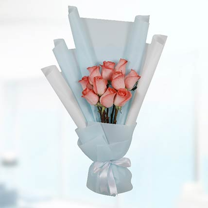 Bouquet Of 10 Orange Roses