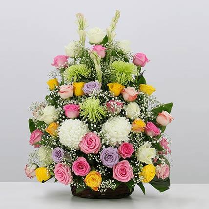 Joyful Blooms Arrangement- Premium