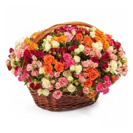 Magical Roses Basket- Deluxe