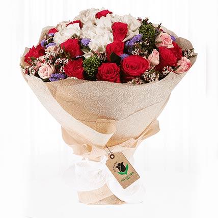 Memorable Mixed Flower Bouquet- Deluxe