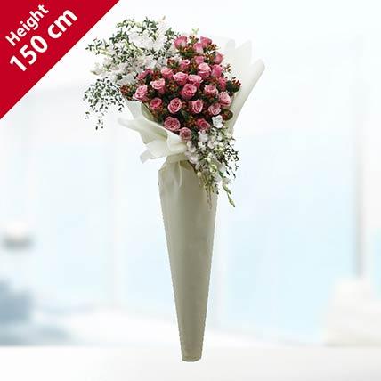 Pink Roses Bouquet- Premium