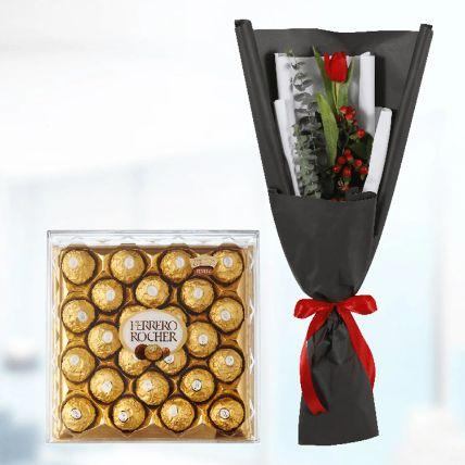 Single Tulip & Ferrero Rocher