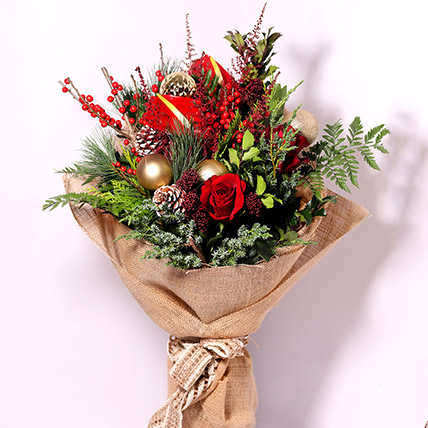 Xmas Theme Flower Bouquet