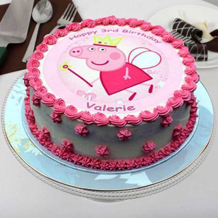 Peppa Pig Theme Buttercream Cake
