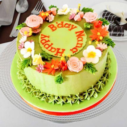 Pretty Flowers Vanilla Cake