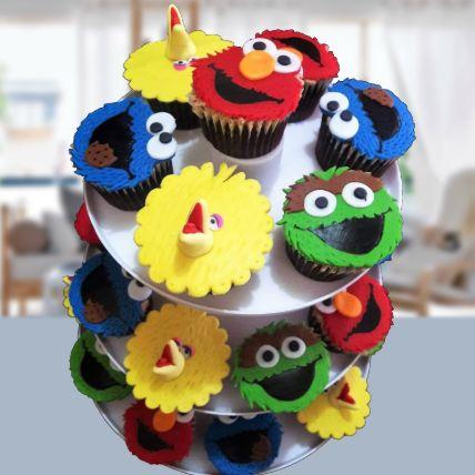 Sesame Street Pineapple Cupcakes