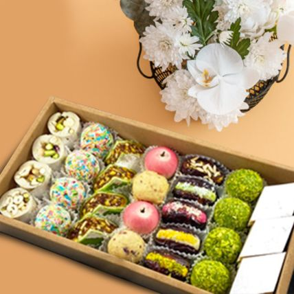 Assorted Box Of Dry Fruit Sweets Half Kg