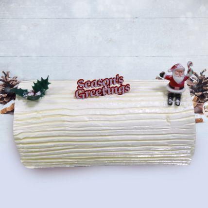 Vanilla Yule Log Cake