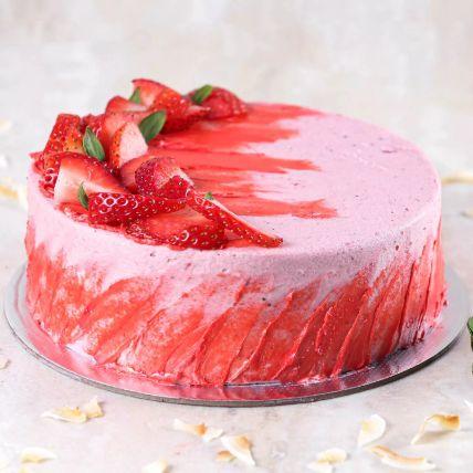 Strawberry Flavour Cake- Half Kg