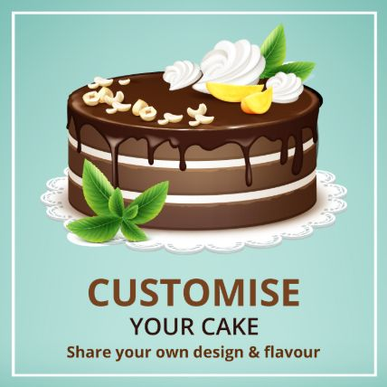 Customized Cake Butterscotch 16 Portions
