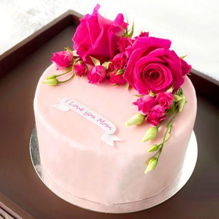 Fresh Flower Chocolate Cake