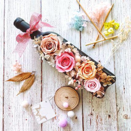Beautiful Pink Flower Bottle