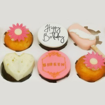 Happy Birthday Vanilla Cupcakes and Cakesicles