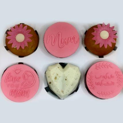 Love You Mom Orange Cupcakes