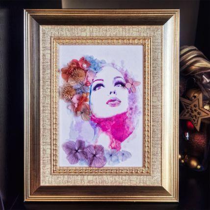 Flower Art Frame For Her