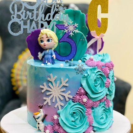 Birthday Frozen Chocolate Cake
