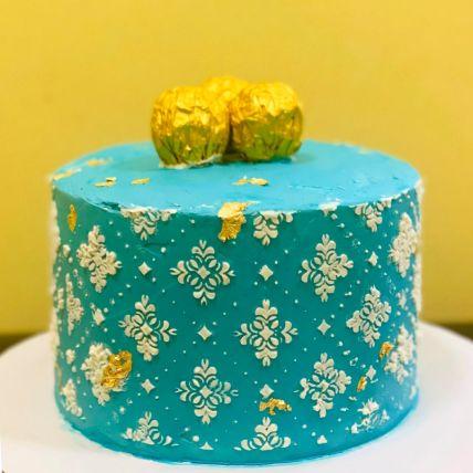 Blue Heaven Vanilla Cake
