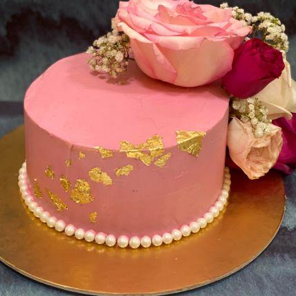 Delicated Rose Vanilla Cake