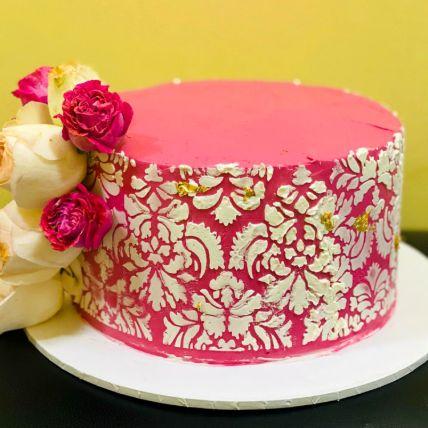 Designer Flower Chocolate Cake
