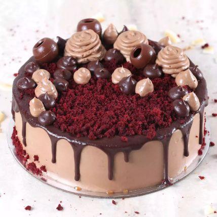 Eggless Chocolaty Red Velvet Cake