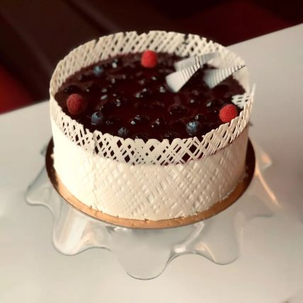 Eggless Delicious Love Blueberry Cake