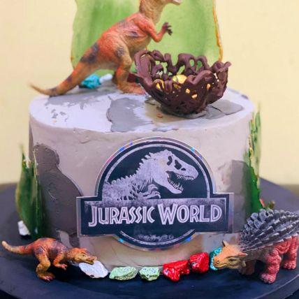 Jurassic World Vanilla Cake