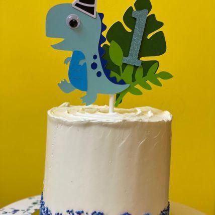 Little Dino Red Velvet Cake