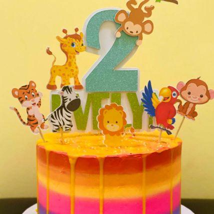Rainbow Cake For Kids Vanilla