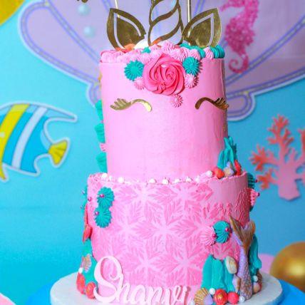 Unicorn Party Chocolate Cake
