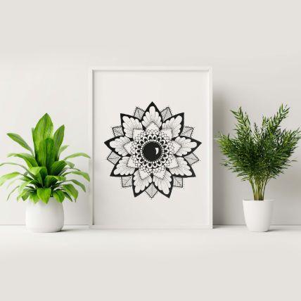 Classic Black Art White Frame