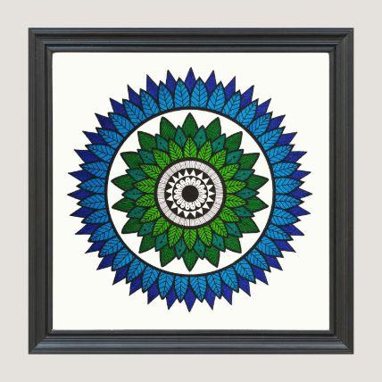 Shades Of Blue Frame Black