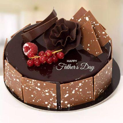 Happy Fathers Day Fudge Cake Half Kg