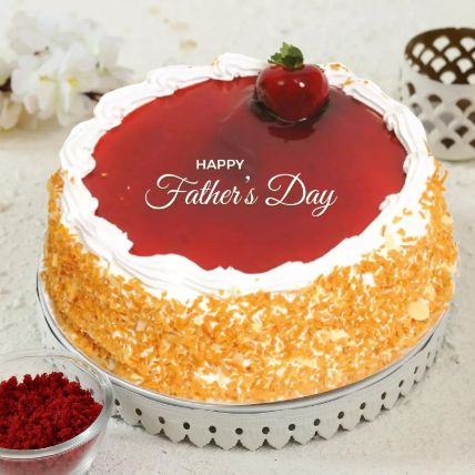 Fathers Day Special Strawberry Cake Half Kg