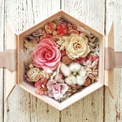 Eternal Flowers In Hexagon Shape Gift Box