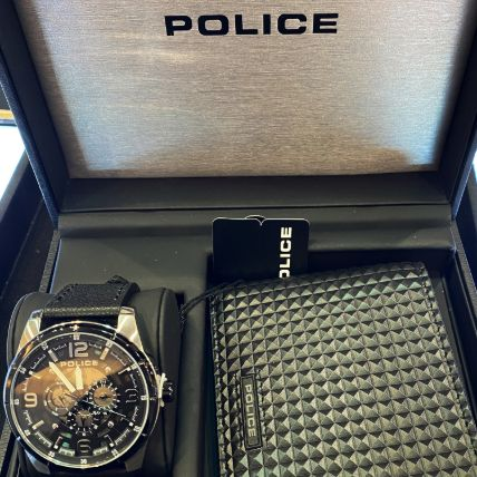 Set Of Police Wallet & Watch