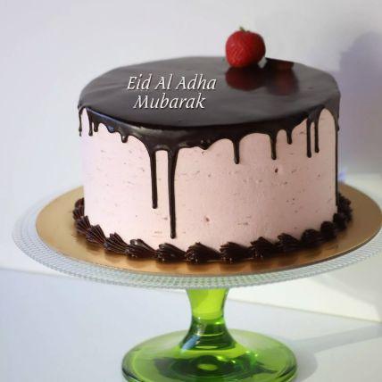 Eid Al Adha Strawberry Chocolate Cake Half Kg