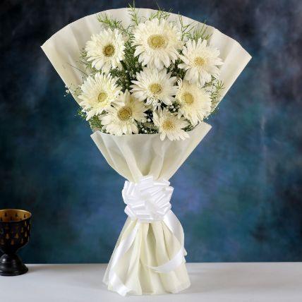 Beautiful White Gerbera Bouquet
