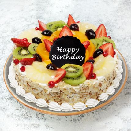 Birthday Fruit Cake Half Kg
