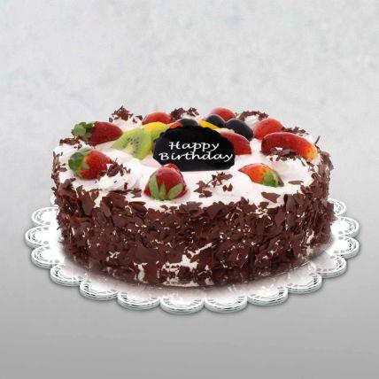 Birthday Special Black Forest Cake Half Kg
