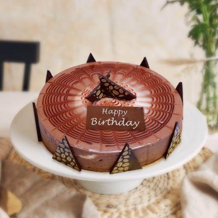 Cappuccino Birthday Cake Half Kg