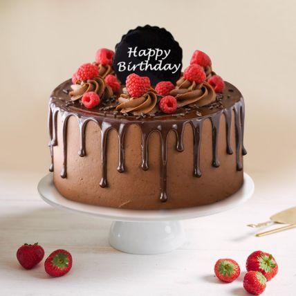 Dripping Chocolate Birthday Cake 1.5 Kg