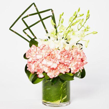 Exquisite Mixed Flowers Vase Arrangement