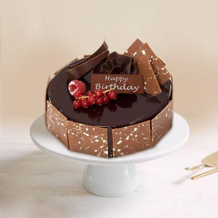 Happy Birthday Fudge Cake Half Kg