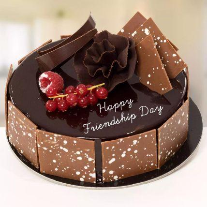 Happy Friendship Day Fudge Cake 1 Kg