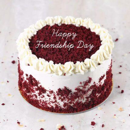 Red Velvet Cake For Friendship Day Half Kg