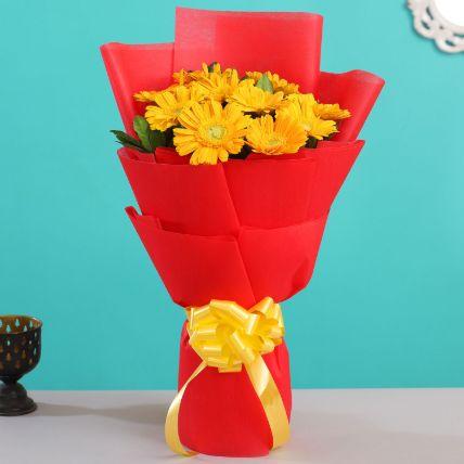 Sunshine Yellow Gerberas Bouquet