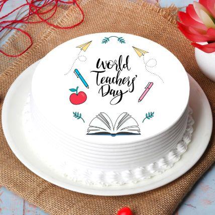 World Teachers Day Chocolate Cake