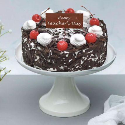 Appetizing Black Forest Cake For Teachers Day Half Kg