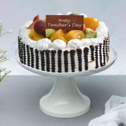Mix Fruit Topping Vanilla Cake Half Kg