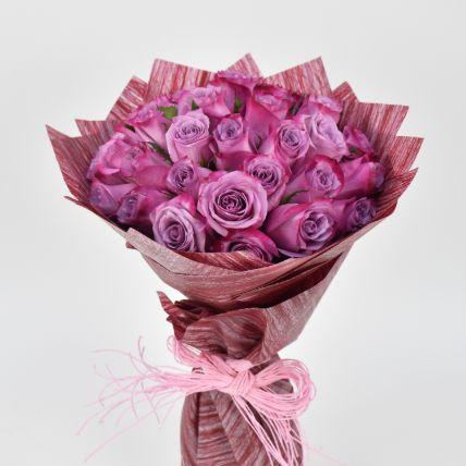35 Purple Roses Bouquet